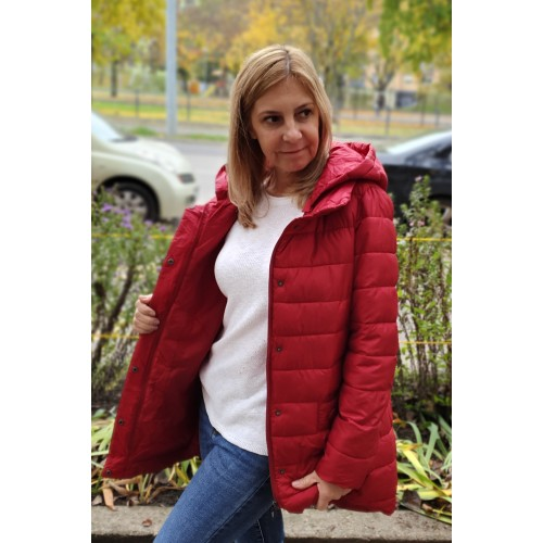 Bordó színű női dzseki